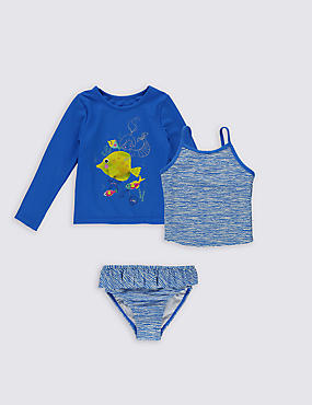3 Piece Bikini Outfit with Lycra® Xtra Life™ (0-5 Years)