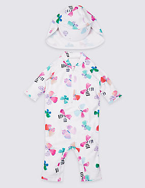 2 Piece Butterfly Print Swim Outfit with Lycra® Xtra Life™ (0-5 Years)