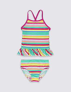 Lycra® Xtra Life™ 2 Piece Striped Tankini Set (1-7 Years)