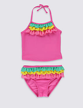 Lycra® Xtra Life™ 2 Piece Frill Tankini Set (1-7 Years)