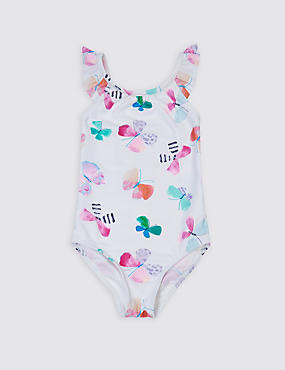 Butterfly Print Swimsuit with Lycra® Xtra Life™ (0-5 Years)