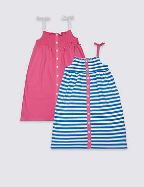 2 Pack Pure Cotton Dress (3 Months - 5 Years)