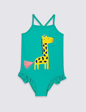 Giraffe Print Swimsuit (0-5 Years)