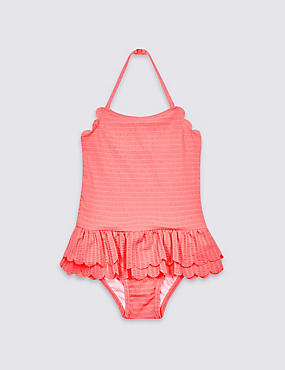 Textured Frill Swimsuit (3 Months - 7 Years)