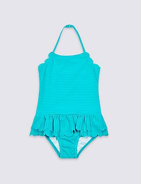Swimsuit with Sun Safe UPF50+ (3 Months - 7 Years), BLUE, catlanding