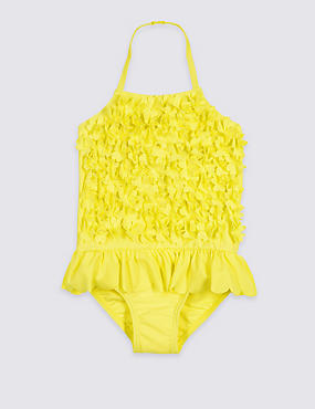 Swimsuit with Sun Safe UPF50+ (3 Months - 7 Years), YELLOW, catlanding