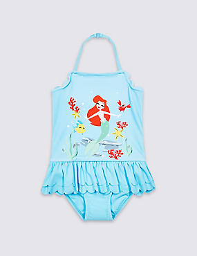 Disney Princess™ Swimsuit with Sun Safe UPF50+ (3 Months - 7 Years), BLUE MIX, catlanding