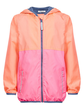 Hooded Colour Block Jacket with Stormwear™ (1-7 Years) Clothing