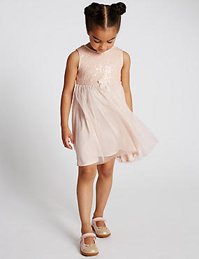 Sequin Embellished Dress (1-7 Years)