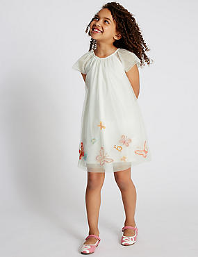 Butterfly Embroidered Dress (1-7 Years)