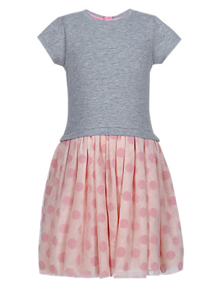 Spotted Skirt Dress (1-7 Years) Clothing