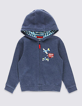 Pure Cotton Applique Hoody (3 Months - 5 Years)
