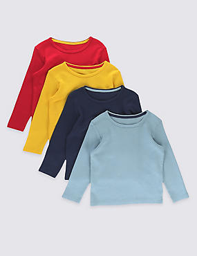 4 Pack Waffle T-Shirts (3 Months - 5 Years)