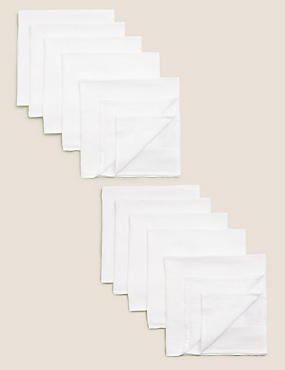 10 Pack Pure Cotton Muslin Squares, WHITE, catlanding