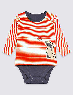 Pure Cotton Badger Print Bodysuit