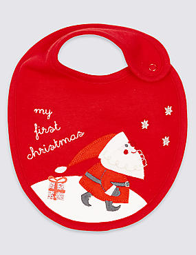Pure Cotton My First Christmas Bib