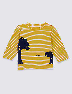 Pure Cotton Bear Print T-Shirt