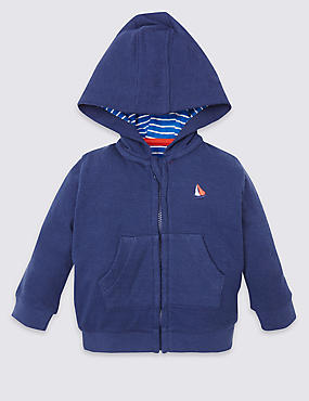 Cotton Rich Hooded Sweatshirt