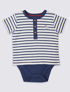Pure Cotton Striped Bodysuit