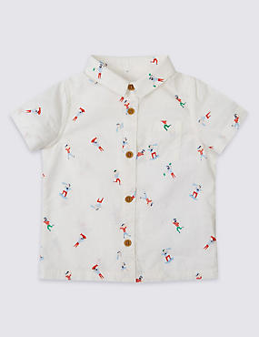 All Over Print Pure Cotton Woven Shirt