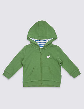 Pure Cotton Hooded Sweatshirt