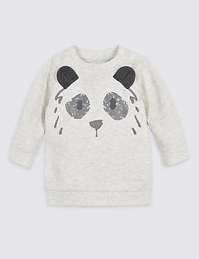 Pure Cotton Bear Print Baby Sweatshirt