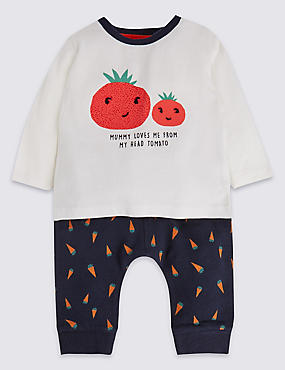 2 Piece Pure Cotton Tomato Jersey Outfit