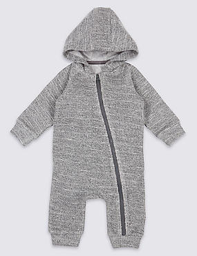 Cotton Rich Hooded All in One