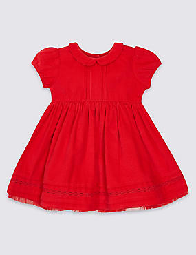 Pure Cotton Short Sleeve Cord Dress