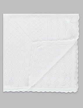 Modal Blend Pointelle Christening Shawl
