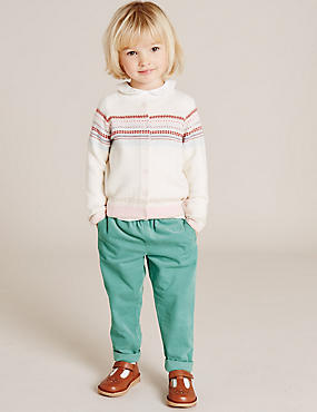 Girls Soft Cord Trousers (3 Months - 5 Years)
