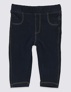 Cotton Jeggings with Stretch