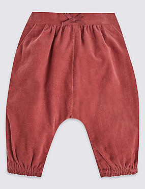Pure Cotton Cord Bloomer Trousers