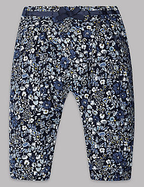 Pure Cotton All Over Print Trousers