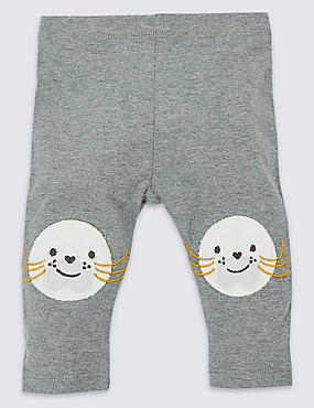Cotton Seal Leggings with Stretch