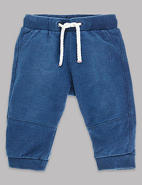 Cotton Rich Denim Joggers