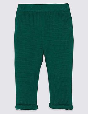 Pure Cotton Knitted Trousers