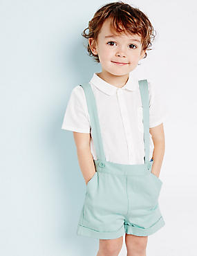 Cotton Braces Boys Shorts with Stretch (3 Months - 5 Years)