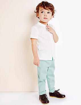 Boys Cotton Chino Trousers with Stretch (3 Months - 5 Years)