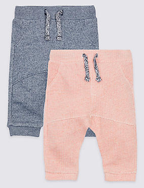2 Pack Textured Joggers