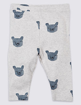 Pure Cotton Bear Printed Leggings