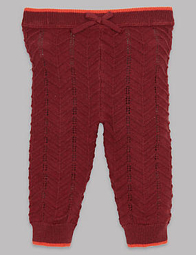Knitted Leggings with Cashmere