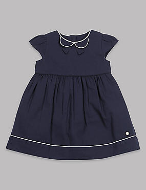 Pure Cotton Peter Pan Collar Dress