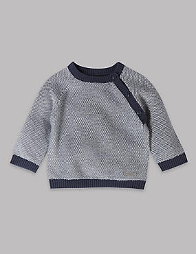 Pure Cotton Knitted Jumper