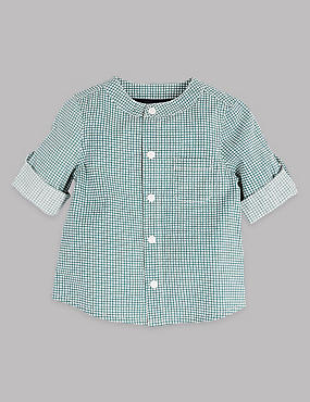 Pure Cotton Micro Checked Shirt