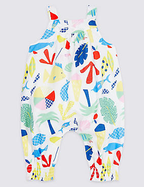 All Over Print Pure Cotton Woven Romper