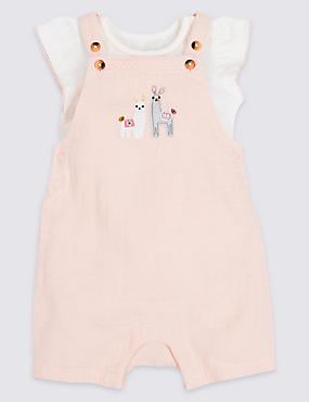 2 Piece Dungarees & Bodysuit Outfit, ROSE, catlanding