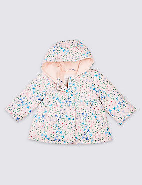All Over Floral Print Coat, MULTI, catlanding