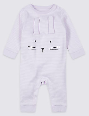 Pure Cotton Novelty Bunny All in One, LILAC, catlanding