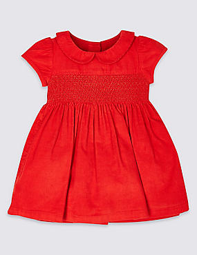 Pure Cotton Cord Dress, CHILLI, catlanding